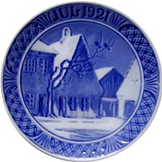 1921 Christmas Collector's Plate by Royal Copenhagen