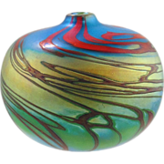 Art Glass Vase -Swirl Design by Ken Peterson