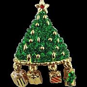 Christmas Tree Pin - Signed Danecraft