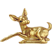 Freeman McFarlin Gold Deer- Vintage, Circa 1980s