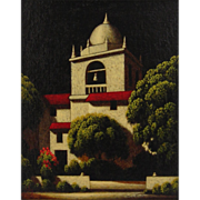 "Original Oil Painting ""San Borromeo Carmelo""  by Clifford Bailey-"