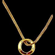 Diamond Pendant & Chain 18kt Yellow Gold