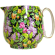 Chintz Pitcher, Lord Nelson Ware - Black Beauty