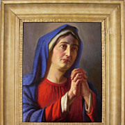 Praying Madonna, Original Painting by Listed Artist Alois Binder