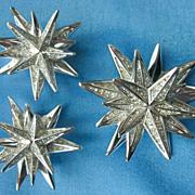 SWAROVSKI  Crystal Starburst Earrings & Brooch, Swan Hallmark