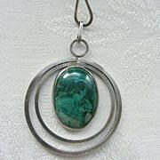 Sterling Eilat Modernist Wire Collar Necklace