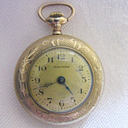 Working 1916 Waltham 15 Jewel Gold-Filled Ladies Pocket Watch