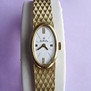 18K Yellow Gold Manual Wind La Martine Bracelet Watch