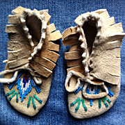 Native American Indian Moccasins Child or Doll Sized