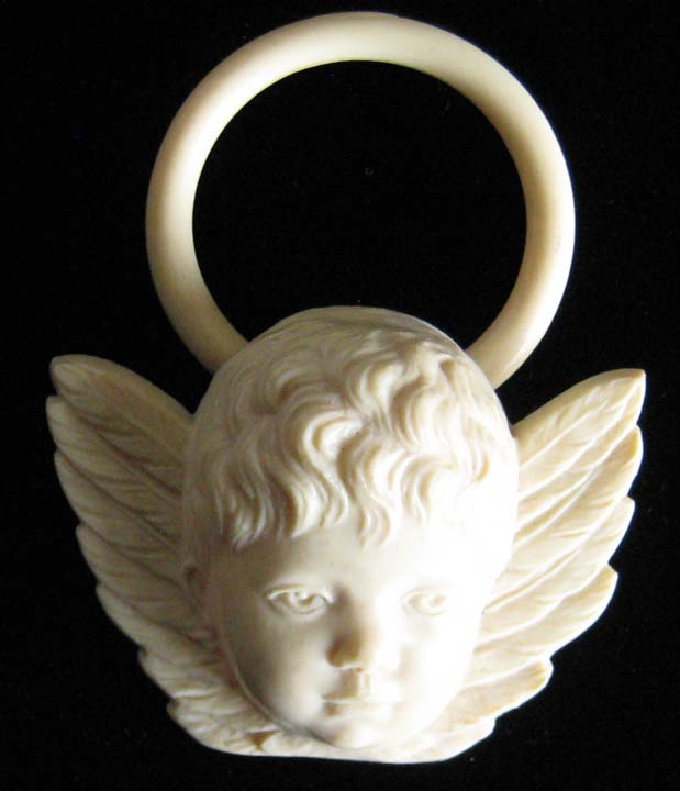 Antique Celluloid Angel Teether
