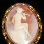 Think Shakespearean! Vintage Wood-Nymph Cameo Brooch
