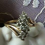 Spectacular Vintage Gold Diamond Ring