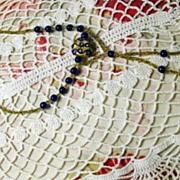 Vintage Art Deco Glass Beaded Necklace c1925