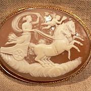 20% Cameo Gold Setting Goddess, Horses Chariot & Cupid