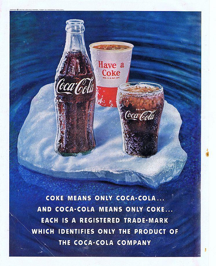 1960 Ad - Coca-Cola COKE - 'Ice Floe'