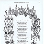 1953 Ad - SHELL Oil - 'The Crowning of a British Queen'