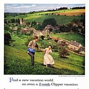 1958 Ads - PAN AM - 'British Village' / REDDI-WIP - 'Happy Anniversary'