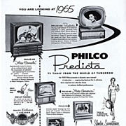 1958 Ad - Philco PREDICTA TV - 'TV Today From The World Of Tomorrow'