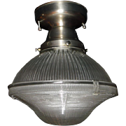Holophane Clip Shade in Brushed Nickel Fixture