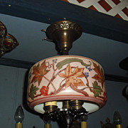 Lightolier Decorated 3 Light Ceiling Fixture