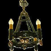 Spanish Revival 4 Light Chandelier