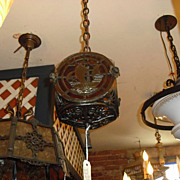 Spanish Revival Hall Light Fixture w Spanish Galleons - 2 available