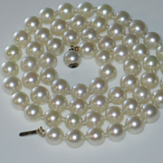 Vintage Strand of  Pearl (cultured) Necklace.  June Birth stone.