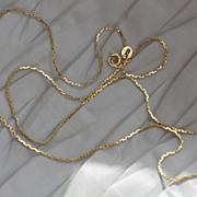 Vintage Italian gold chain.  14k yellow gold.