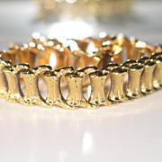 Vintage ITALIAN Gold Bracelet.  750 (18k) Yellow Gold.