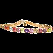 GORGEOUS! Vintage 18k gold Multi Gemstone Bracelet.