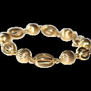 Vintage 18k Yellow Gold Fine Bracelet.
