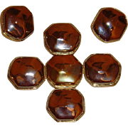 Kenneth J. Lane Metallic Pendant and Earring Set