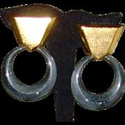 Yves Saint Laurent Dangle Earrings -YSL