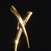 Trifari Gold-Tone Abstract Pin