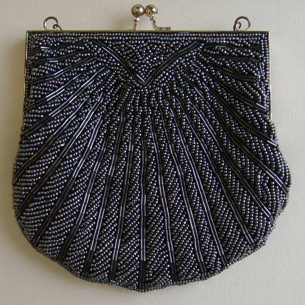 Silver Gray Evening Bag