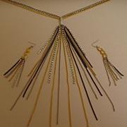 Allen Schwartz Necklace and Earring Set