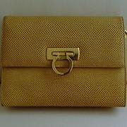 Vintage Faux Leather Clutch/Shoulder Bag