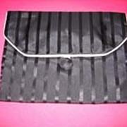 Vintage black & coral lingerie bag