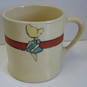 Antique Roseville Juvenile child's Sunbonnet Baby mug