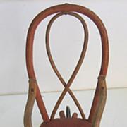 German Antique dollhouse miniature unusual rattan wheelchair