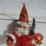 Vintage SANTA ornament Furry beard