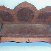 German Schneegas antique doll house miniature couch sofa