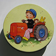 Vintage Mabel Lucy Attwell Tin Litho biscuit tin