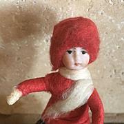 Antique German bisque cotton Christmas Heubach ornament
