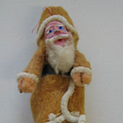 Antique Santa cotton ornament