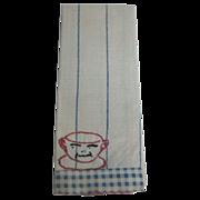Antique children's kitchen tea decorative towel