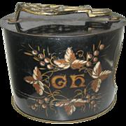 Antique tin litho shoe shine box
