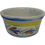 Antique French Brittany Quimper Faience miniature large bowl & pot