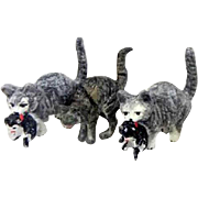 Vienna Bronze miniature cats or kittens