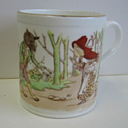 Shelley Antique Child's Little Red Riding Hood nursery rhyme cup